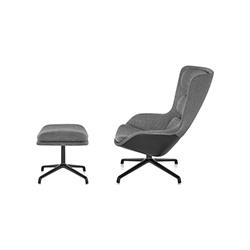 条纹躺椅&脚踏 杰斯&劳布  herman miller家具品牌
