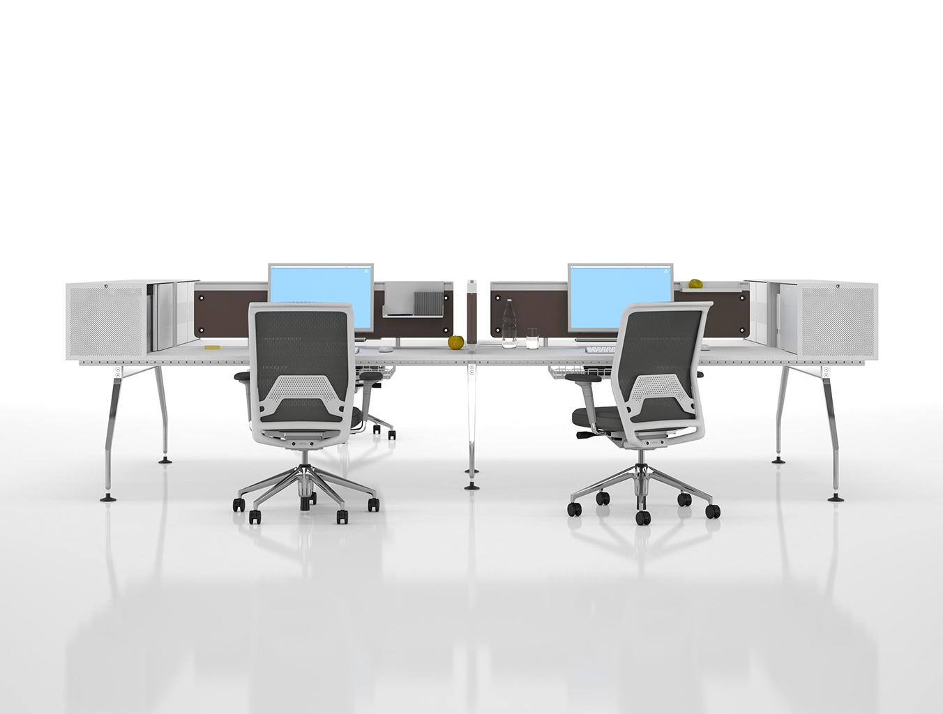 办公屏风|办公屏风系统|办公家具|设计师家具|Ad Hoc 桌面组合办公台