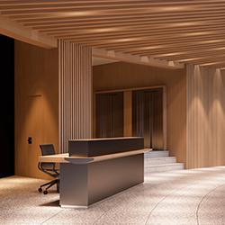 木制办公室接待台 何塞·马丁内斯·梅迪纳  办公屏风