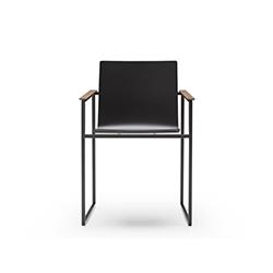 带扶手的雪橇漆椅 何塞·马丁内斯·梅迪纳  餐椅