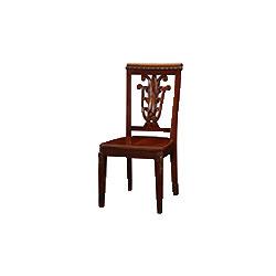 木面无扶手   餐椅
