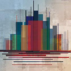 色彩之城-原创定制壁画   装饰画/墙饰