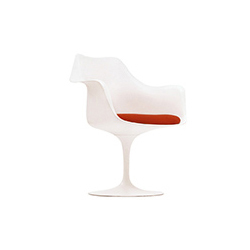 郁金香扶手椅 saarinen white tulip arm chair