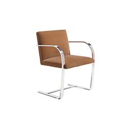 扁钢框架布尔诺椅 路德维希.密斯.凡德罗  knoll家具品牌