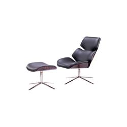 虾仁椅&脚踏 shrimp chair and ottoman