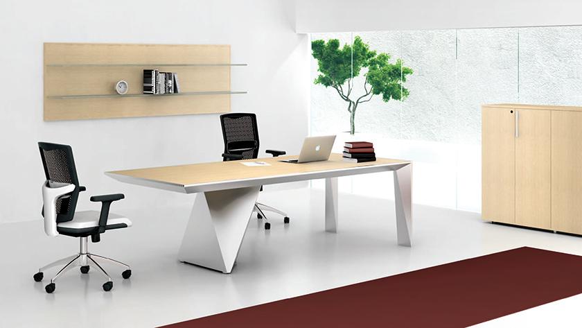 [办公台|时尚大班台|办公家具|设计师家具|VINCENT]