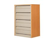 4层单面期刊架(钢木)   图书馆家具