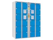 24门条码型储物柜   钢制储物柜
