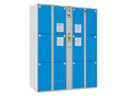 12门条码型储物柜   钢制储物柜