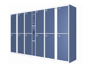 12门机场条码寄存柜   钢制储物柜
