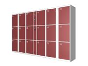 18门机场条码寄存柜   钢制储物柜