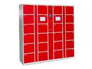 24门条码型寄存柜   钢制储物柜
