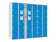 36门条码型寄存柜   钢制储物柜