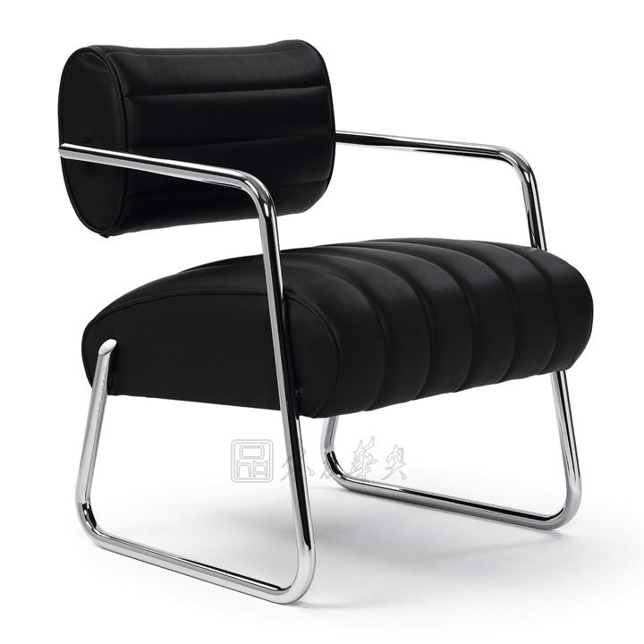 办公家具 真皮休闲椅