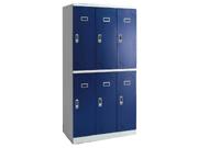 钢制电子锁六门更衣柜   钢制储物柜