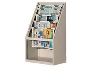 十层报纸斜挂柜   图书馆家具