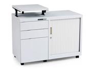 卷门三抽地柜   钢制文件柜