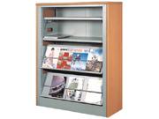 三层单面期刊架   图书馆家具