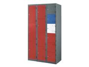 钢制十三门更衣柜   钢制储物柜
