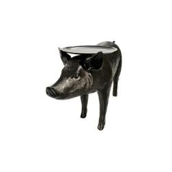 荷兰 Moooi Pig Table 黑�i�桌   台灯