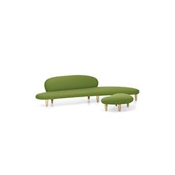 自由沙发&脚踏(鹅卵石沙发&脚踏 noguchi freeform sofa and ottoman