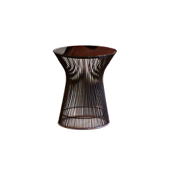 沃伦配套圆几 platner bronze side table