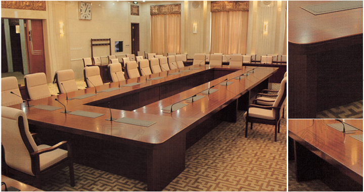 Multimedia Conference Table会议台行政会议台会议桌行政会议桌CG - Multimedia conference table